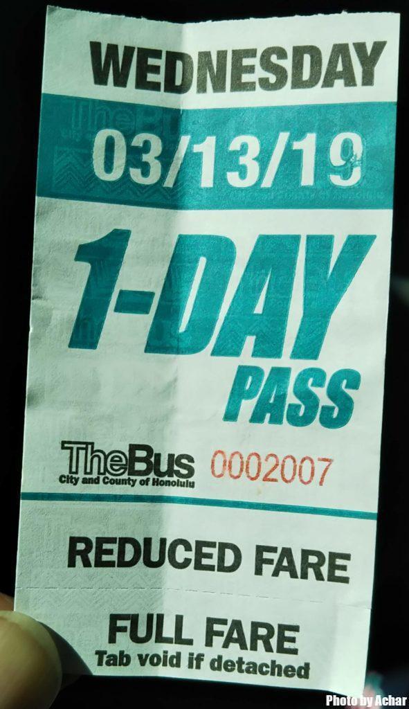 1Day passチケット