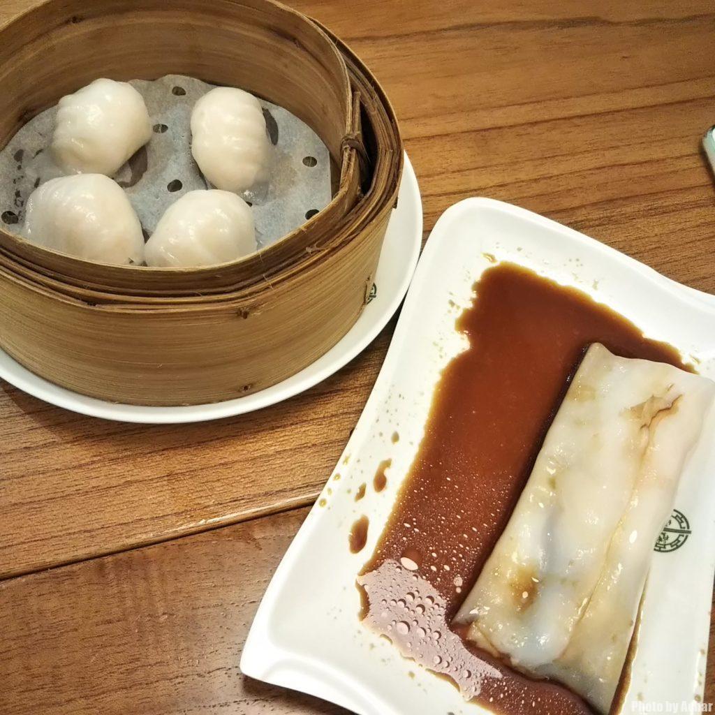 Steamed Shrimp Dumplings & Steamed Rice roll with BBQ Pork