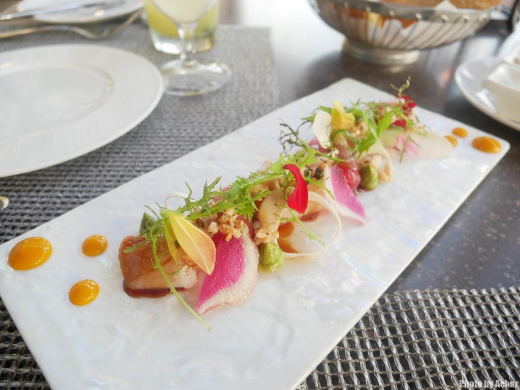 ハワイ産マグロとカンパチの刺身(Auction Block Sashimi)