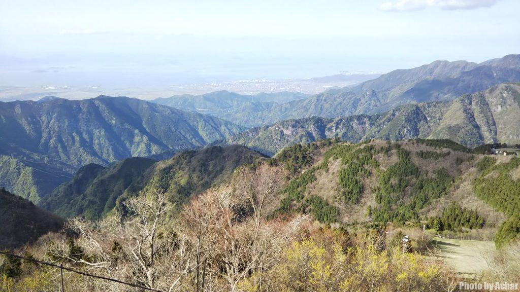 石鎚山展望台からの風景